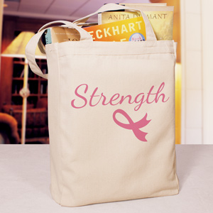 Strength Ribbon Tote Bag