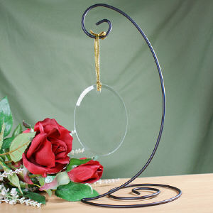 Black Spiral Ornament Stand
