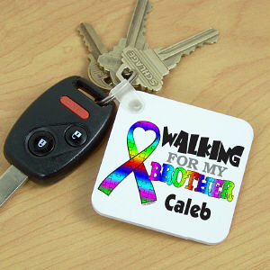 Personalized Walking for Autism Keychain