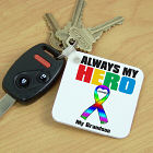 Personalized My Autistic Hero Keychain 340920