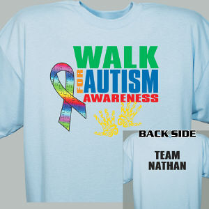 Personalized Walk for Autism Awareness T-Shirt