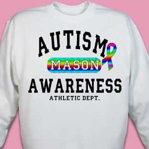 Personalized Autism Awareness Athletic Dept. Sweatshirt