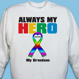 Personalized My Hero Autism Awareness Sweatshirt