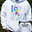 Personalized Autism Ribbon Awareness Hooded Sweatshirt H54187X