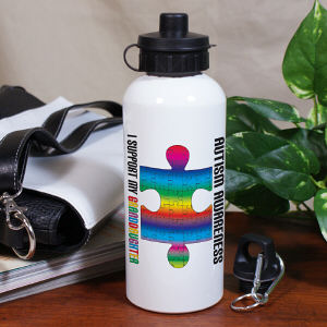 Personalized Autism Awareness Water Bottle
