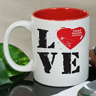 Love Heart Health Awareness Two-Tone Mug