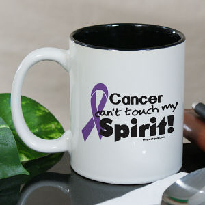 Purple Hope Ribbon Awareness Two Tone Mug