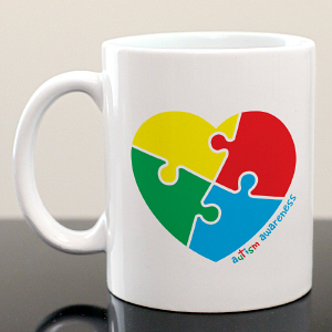 Autism Heart Ceramic Mug