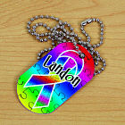 Personalized Asperger's Ribbon Dog Tag 353061