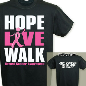 Personalized Breast Cancer Walk T-Shirt