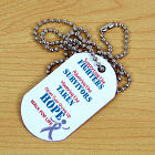 Fighting for The Cause Cancer Awareness Dog Tag 341031