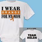 Personalized I Wear Orange Multiple Scleroses T-Shirt 34160X