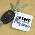 Personalized I Love A Child With Epilepsy Awareness Key Chain 341740