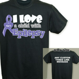 Personalized I Love A Child with Epilepsy T-Shirt