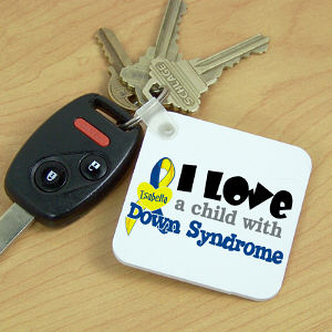 Personalized I Love Someone With Down Syndrome Key Chain