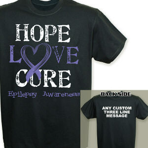 Personalized Hope Love Cure Epilepsy Awareness T-Shirt