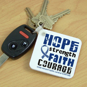 Cure ALS Awareness Key Chain