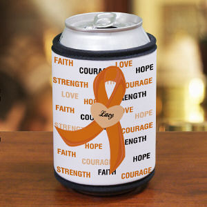 Hope and Love MS Awareness Can Wrap Koozie