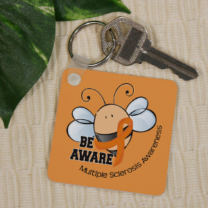 Bee Aware MS Awareness Key Chain