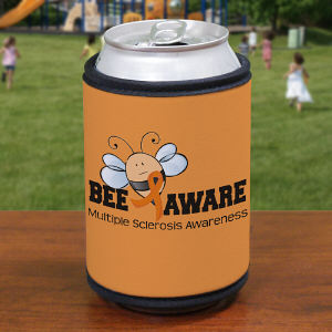 Bee Aware Multiple Sclerosis Awareness Can Wrap Koozie
