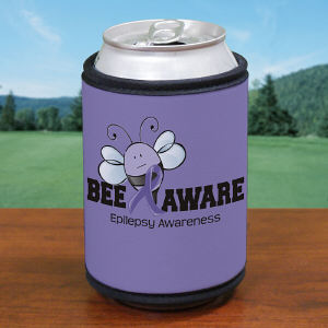 Bee Aware Epilepsy Awareness Can Wrap Koozie