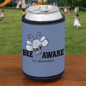 Bee Aware ALS Awareness Can Wrap Koozie