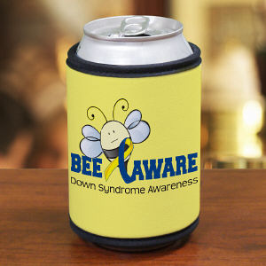 Bee Aware Down Syndrome Awareness Can Wrap Koozie