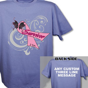 Hope Ribbon Breast Cancer Survivor T-Shirt