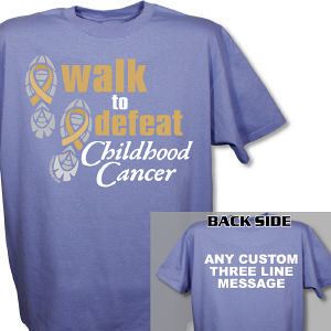Personalized Walk to Defeat Childhood Cancer T-Shirt