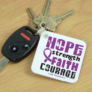 Cure Alzheimers Key Chain Mywalkgear Com