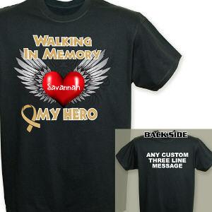 Childhood Cancer Hero T Shirt Mywalkgear Com