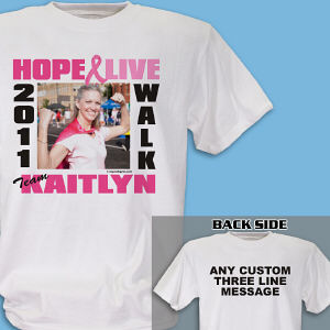 Breast Cancer Walk Photo T-Shirt