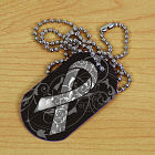 Diabetes Awareness Ribbon Dog Tag