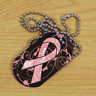 Breast Cancer Awareness Ribbon Dog Tag 342921