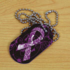 Alzheimer's Awareness Ribbon Dog Tag 342931