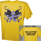 Cancer Survivor Butterfly T-Shirt 34303X