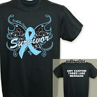 Prostate Cancer Survivor Butterfly T-Shirt