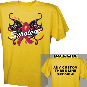 Multiple Myeloma Survivor Butterfly T-Shirt