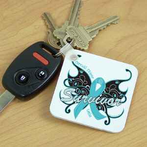 Cerviclal Cancer Survivor Butterfly Key Chain