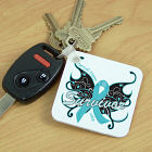 Cerviclal Cancer Survivor Butterfly Key Chain 343090