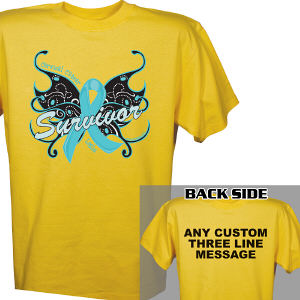 Cervical Cancer Survivor Butterfly T-Shirt