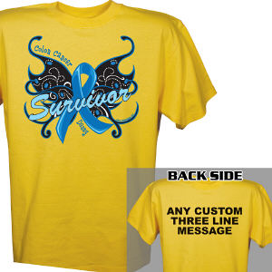 Colon Cancer Survivor Butterfly T-Shirt