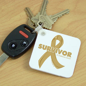 Childhood Cancer Survivor Key Chain