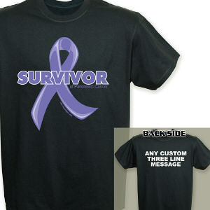 Pancreatic Cancer Hope Ribbon Survivor T-Shirt