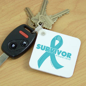 Ovarian Cancer Survivor Key Chain