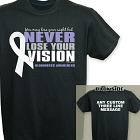 Never Lose Your Vision Bliness Awareness T-Shirt 34351X