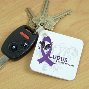 Lupus Awareness Key Chain