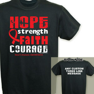 Heart Disease Hope Ribbon T-Shirt