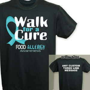 Walk For A Cure Food Allergy Awareness T-Shirt