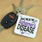 Screw Alzheimer's Disease Key Chain 344120